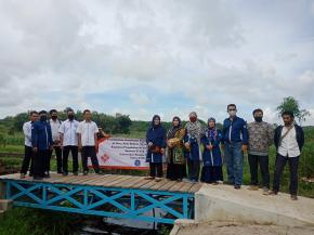 Pengabdian Masyarakat Jurusan Teknik Sipil Tahun 2020 di Desa Jada Bahrin